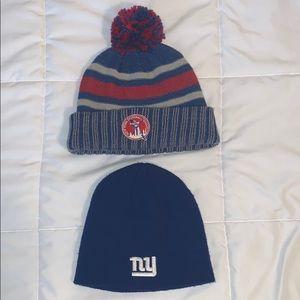 (2) New York Giants Winter Hats